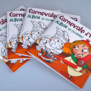 Album da colorare del carnevale d'Ivrea