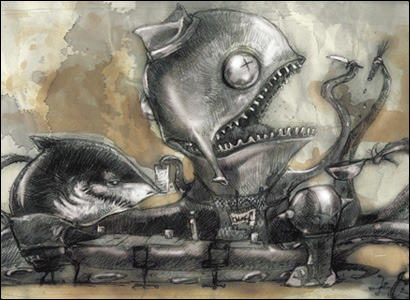 illustrazione piovra