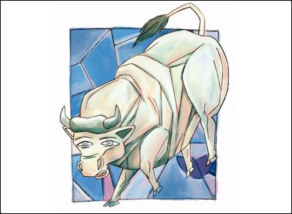illustrazione mucca