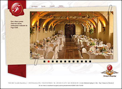 Sviluppo sito web Canavese: Catering Faga img3