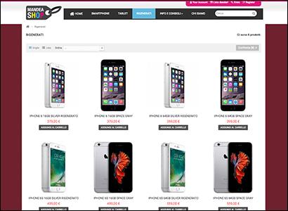 Realizzazione e-commerce Mandea Shop
