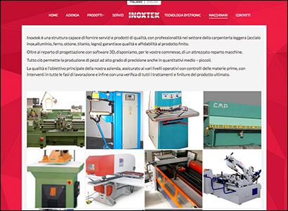 Realizzazione sito internet Inoxtek