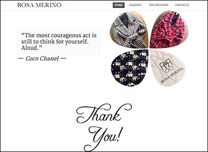 Sviluppo sito fashion designer - Rosa Merino