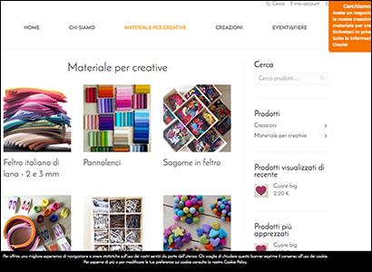 Sviluppo e-commerce Laboratorio Artigianale
